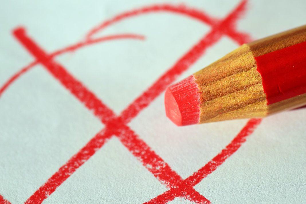verkiezing rood potlood